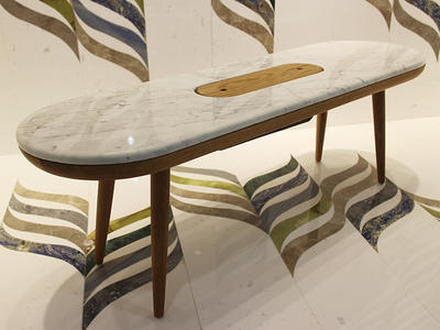 Wholesale Modern White Marble Side Table Oval Table Top Marble