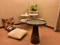 Classic Small Round Marble Top End Pedestal Table From China