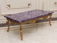 Hot Sale Purple Semiprecious Stone Agate Stone Table